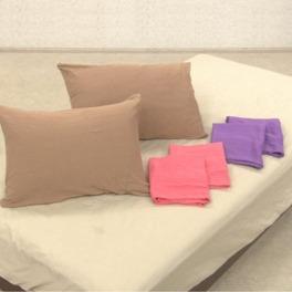 ジャガードニット 枕カバー 同色2枚セット
