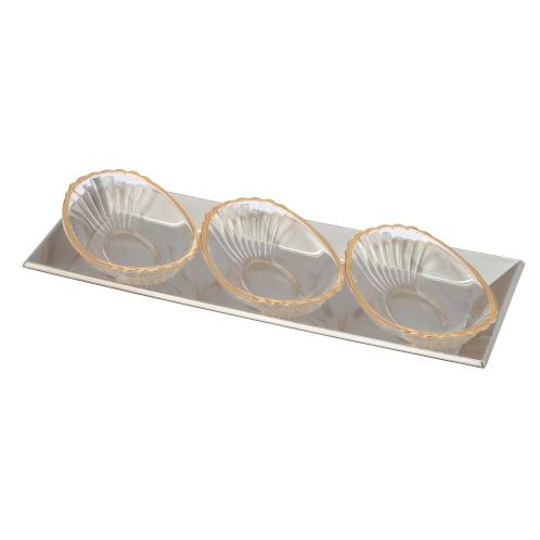 角皿&ガラスプレート3枚セット
