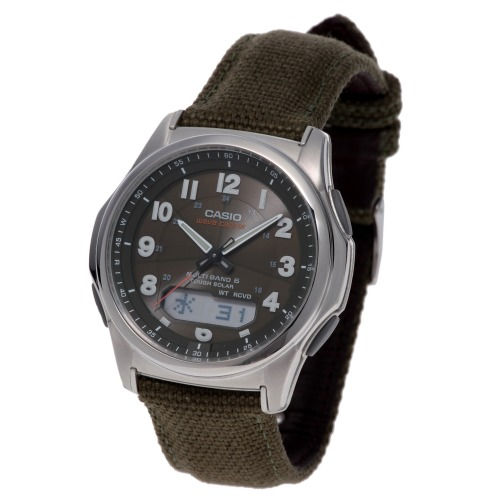 """カシオ メンズ電波ソーラー腕時計 """"ウェーブセプター"""" <クロスバンドタイプ>"""