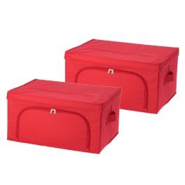 ビバライズ 圧縮袋付 多機能収納ボックス 同色2個セット