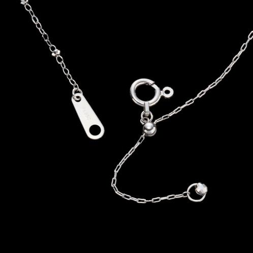 プレシア・プラチナ プラチナ850 シャイニーカット アイスビーズ デザインネックレス