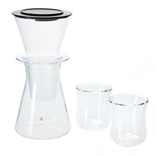 イワキ イワキウォータードリップコーヒーサーバー1台&エアグラス2個セット(キッチン家電 キッチン用品 ホーム・インテリア)の画像