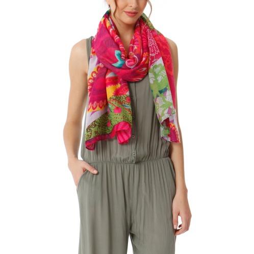 デシグアル プリントデザイン スカーフ