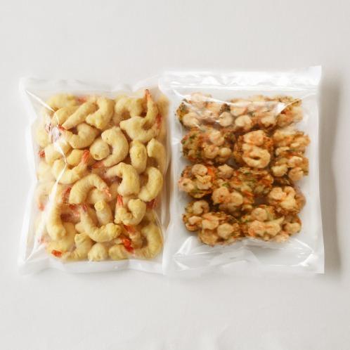 天然海老使用! プリプリ便利な 海老の天ぷら&かき揚げ