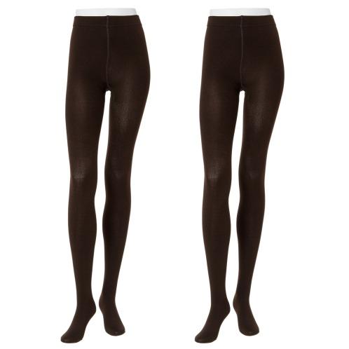 ビスガタ 美姿裏起毛タイツ同色2足セット(ストッキング・靴下 ファッション)の画像