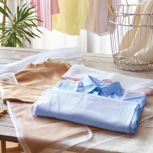 """ネットデキレイ 洗濯ネット""""ネットできれい""""シャツ用3個セット(洗濯用品 洗濯・ハウスクリーニング用品 ホーム・インテリア)の画像"""