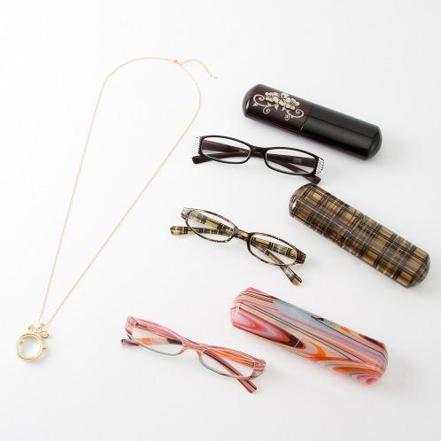 ベイライン ベイラインケース付リーディンググラス&ルーペペンダント4点セット(リーディンググラス・サングラス ファッション)の画像