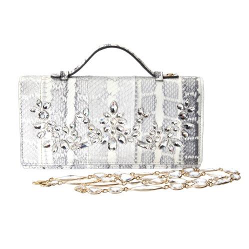 エーディーエムジェイ エーディーエムジェイスワロフスキークリスタルエラフ ラディアータクラッチウォレット(財布・小物 ファッション)の画像