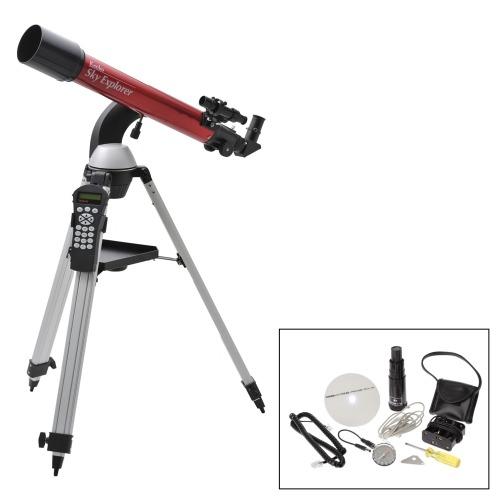 ケンコー ケンコー自動導入機能搭載!最大倍率210倍で観測スカイエクスプローラー天体望遠鏡 特別セットSE−GT70A(双眼鏡・スコ-プ カメラ・デジタルカメラ・望遠鏡 家電・エレクトロ)の画像