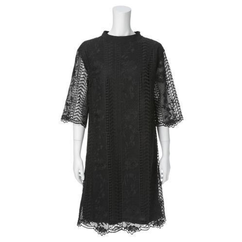 カダーランド カダーランドレース刺しゅう七分袖ワンピース(パジャマ・室内着 ファッション)の画像