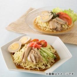 モチモチ熟成麺の 喜多方冷やし中華 醤油&ごま (チャーシュー・味玉子)