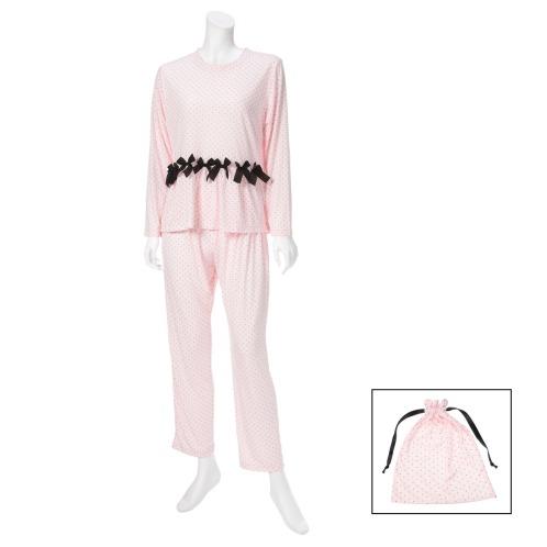 ナルエー ナルエードット柄ルームウェア上下セット(パジャマ・室内着 ファッション)の画像