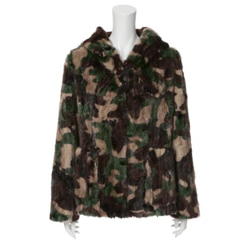 モトマチゼラール 元町ゼラールミンクフード付ジャケット(レザー・ツイード ファッション)の画像