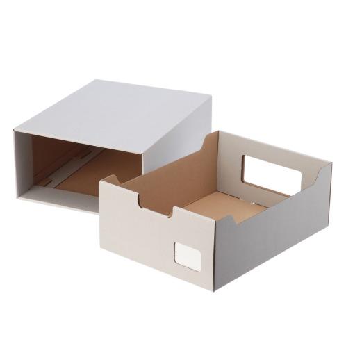 <同色10個組>ラク・カル・ジョーブ! クラフト製 多機能収納ボックス