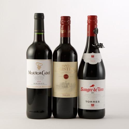 エノテカ エノテカ厳選ヨーロッパワインの歴史! 世界のロングセラー赤ワイン3本セット(お酒 グルメ・お酒)の画像