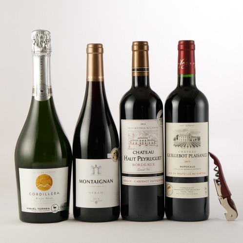 エノテカ エノテカ厳選世界の金賞ワイン4本ソムリエナイフ付特別セット(お酒 グルメ・お酒)の画像