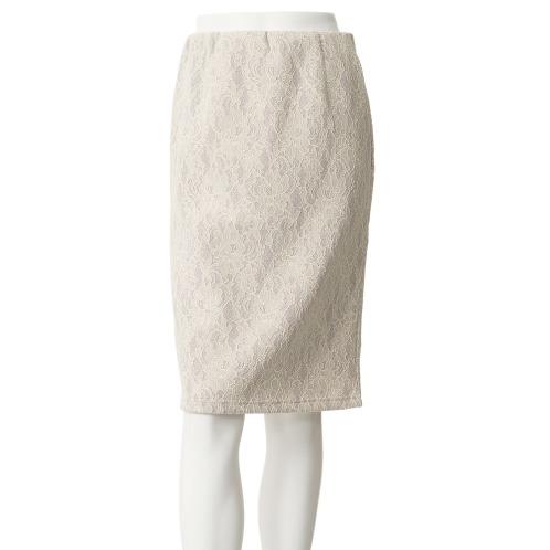 ブージュルード ウィンターレース ボンディング セミタイトスカート