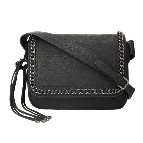 マンゴ マンゴチェーン&タッセルアクセントショルダーバッグ(財布・小物 ファッション)の画像