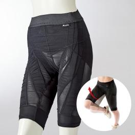 <ショート> 腸腰筋アシストで 膝、太もも自然に上がる!  歩けるスパッツ 同色2枚セット …