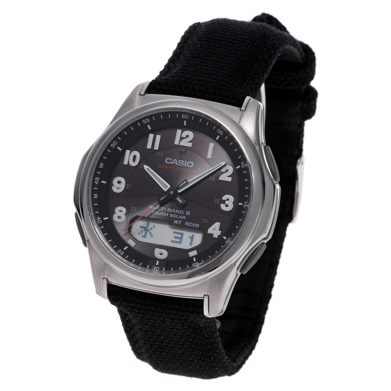"92cda990ae カシオ メンズ電波ソーラー腕時計 ""ウェーブセプター"" <クロスバンドタイプ>"