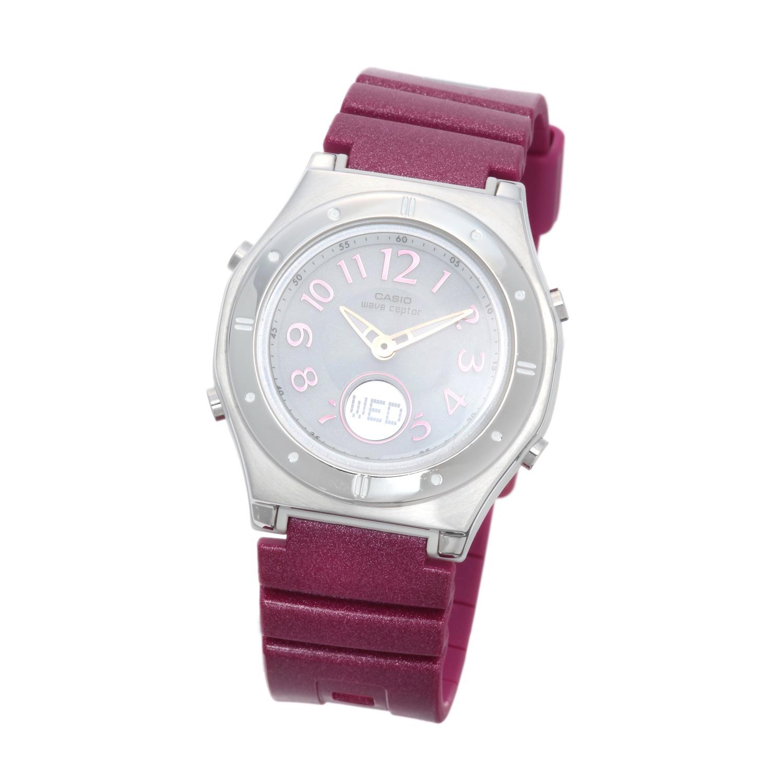 "aadccbbd5cf0b7 カシオ レディース 電波ソーラー腕時計 ""ウェーブセプター"" 家電 時計 ..."