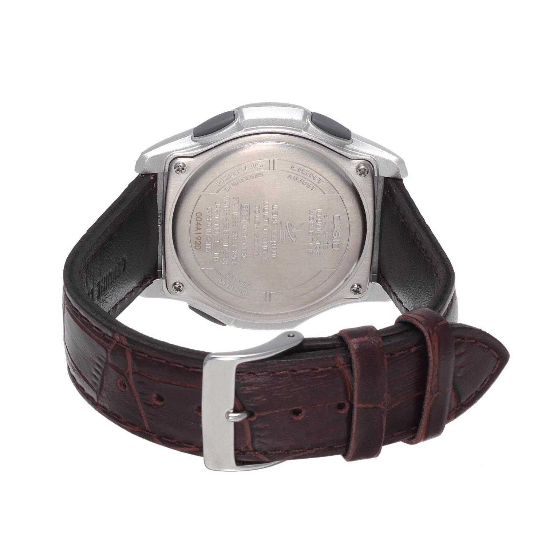 """a3d9235265f465 ... カシオメンズ電波ソーラー腕時計""""ウェーブセプター"""" <レザーバンド> ..."""