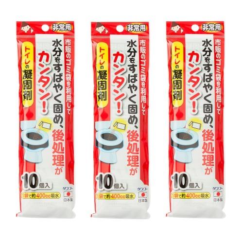 非常用トイレの凝固剤<30個>(防虫・除湿用品 洗濯・ハウスクリーニング用品 ホーム・インテリア)の画像