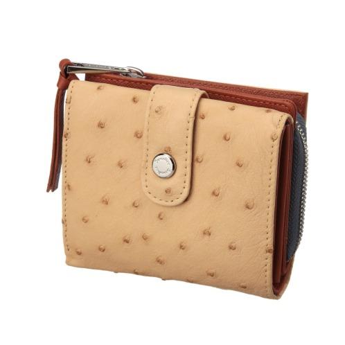 センプリチェ センプリチェオーストリッチ2つ折りウォレット(財布・小物 ファッション)の画像