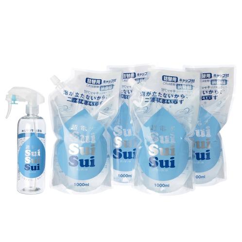 ジツエンハンバイシイチオシノホームグッズ 油汚れも落とせる超電水 すいすい水スペシャル増量セット(清掃用具 洗濯・ハウスクリーニング用品 ホーム・インテリア)の画像