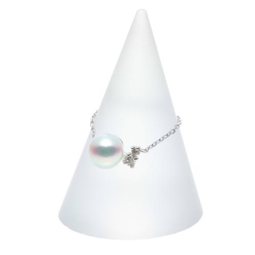 ジュペレ ジュペレ18K国産アコヤパール&ダイヤモンドスライドチェーンリングの画像