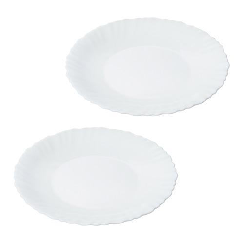 ファミエット イワキ ファミエット シルクホワイト 中皿2枚セット(卓上小物 キッチン用品 ホーム・インテリア)の画像