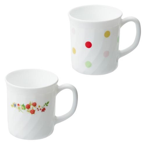 ファミエット イワキ お好みの柄を2個選べる! ファミエット マグカップ2個セット(卓上小物 キッチン用品 ホーム・インテリア)の画像