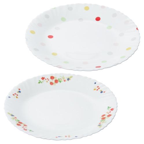 ファミエット イワキ お好みの柄を2枚選べる! ファミエット 大皿2枚セット(卓上小物 キッチン用品 ホーム・インテリア)の画像