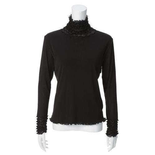 メッシュウィッシュ メッシュウィッシュパワーネットフリルアクセント長袖プルオーバー(下着・ランジェリー ファッション)の画像