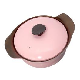 <24cm>エイチアールシー 無加水調理もおまかせ! こびりつきにくい セラミックコーティング 浅型両手鍋