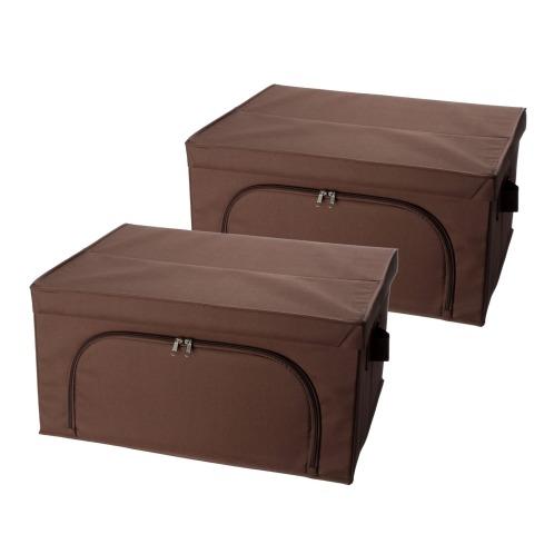 ビバライズ ビバライズ 圧縮袋付 多機能収納ボックス 同色2個セットの画像
