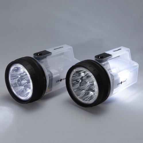 ライフギア ライフギア強力ライト、ランタン、赤色信号灯の3役で活躍! LED強力ライト特別2個セット(照明器具 照明・ハウス関連品 家電・エレクトロ)の画像