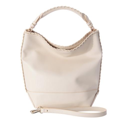 マンゴ マンゴクロスステッチアクセント2ウェイトートバッグ(財布・小物 ファッション)の画像
