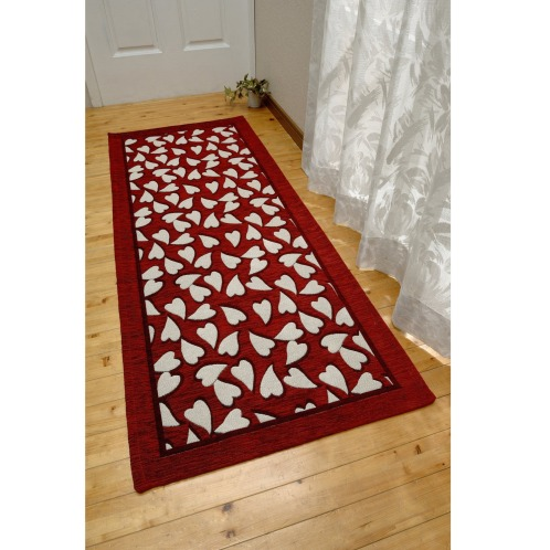 <55x140cm>フィニカップイタリア製ゴブラン織洗えるロングマット