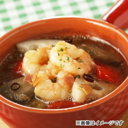 モンテルセーロ スペインバル 「モン テルセーロ」 海老と根菜のアヒージョ(海老のガーリックオイル煮)の画像