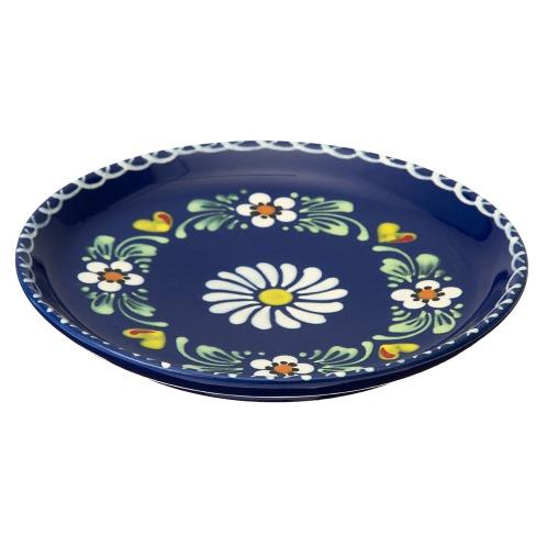 アルザストウキ <20cmフラワー>ベックアルザス地方伝統の陶器ラウンドディッシュ(卓上小物 キッチン用品 ホーム・インテリア)の画像