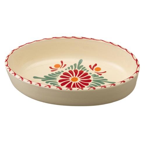 アルザストウキ <20cm トラッドフラワー>ベックアルザス地方伝統の陶器オーバルディッシュ(調理小物 キッチン用品 ホーム・インテリア)の画像