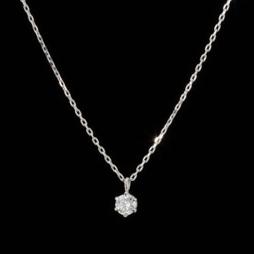 ジュビリー バイ ブルーリバー ダイヤモンド ジュビリー18Kダイヤモンドソリティアネックレスの画像
