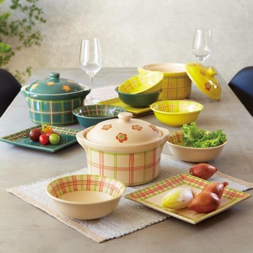 アルザストウキ ベックアルザス地方の伝統の陶器キャレディッシュ(鍋・フライパン キッチン用品 ホーム・インテリア)の画像