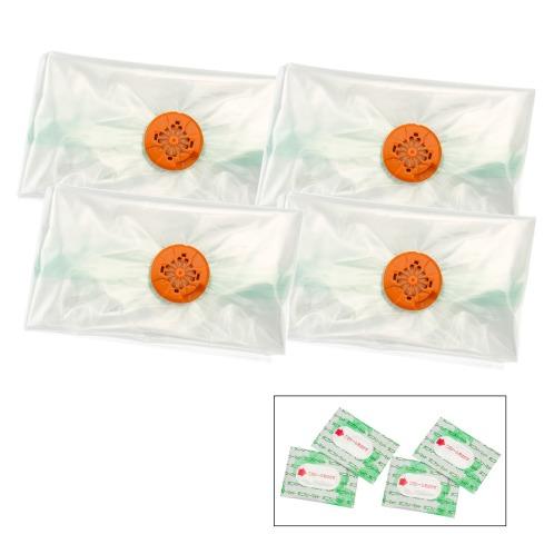 アールノアッシュクブクロ <シングル>ダニ駆除ふとん用圧縮袋4枚セット(消臭用品 洗濯・ハウスクリーニング用品 ホーム・インテリア)の画像