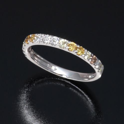 ソルジェ ソルジェ18Kホワイトゴールド0.5カラットUPダイヤモンドハーフエタニティリングの画像
