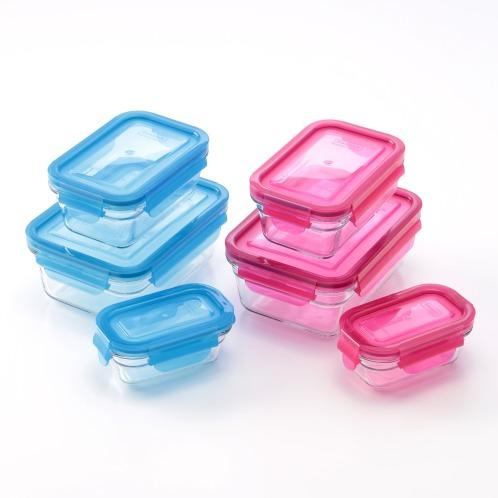 美しく丈夫で耐熱性も! 強化ガラス製保存容器ガラスロックバリア6点セット