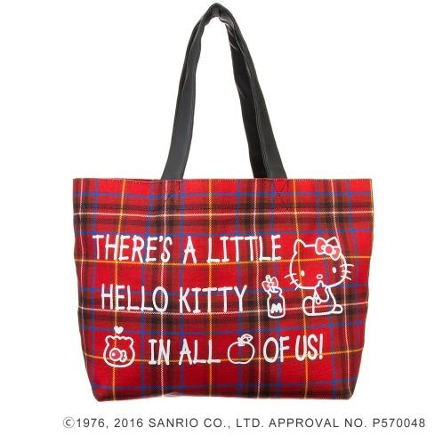 サンリオ ハローキティタータンチェックトートバッグ(その他 ドール・キャラクターグッズ コレクターズ・お花)の画像