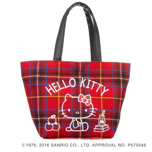 サンリオ ハローキティタータンチェック手さげバッグ(その他 ドール・キャラクターグッズ コレクターズ・お花)の画像