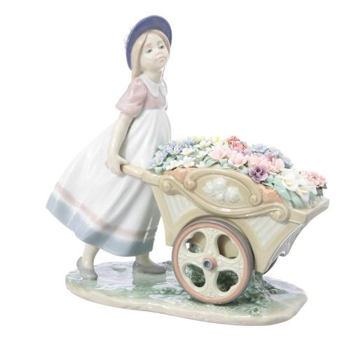 リヤドロ リヤドロポーセリンアート可愛いお花屋さん(クリスタル ホーム雑貨 コレクターズ・お花)の画像